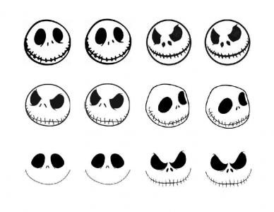 Jack Skellington Face Sketch Coloring Page