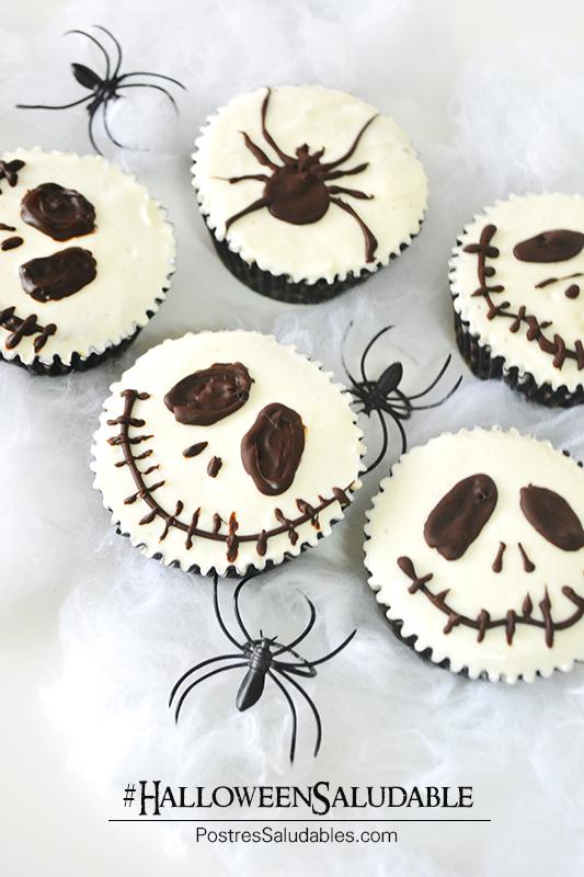 HalloweenSaludable: Jack Skelleton Cupcakes – Postres Saludables